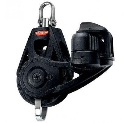 Ronstan-RF45130-Serie 40 RT Orbit Block™, Bozzello a violino con strozzatore, arricavo e testa girevole-20